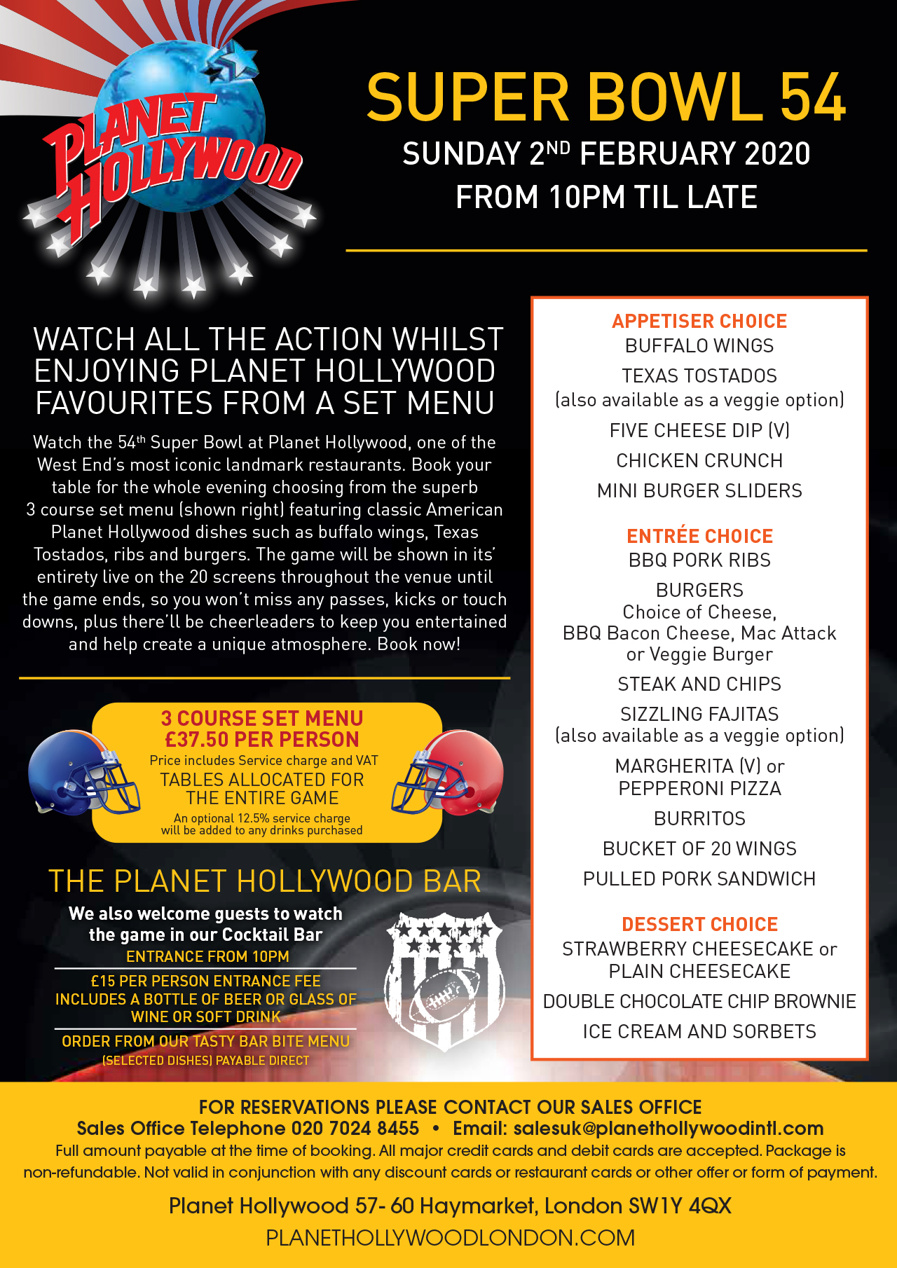 Promotions Planet Hollywood